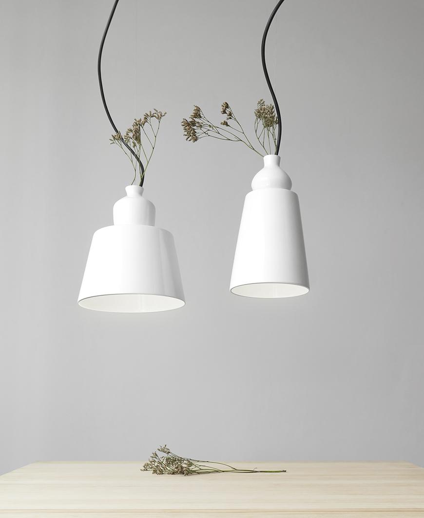 lamparas numeradas de cerámica Martin Azua