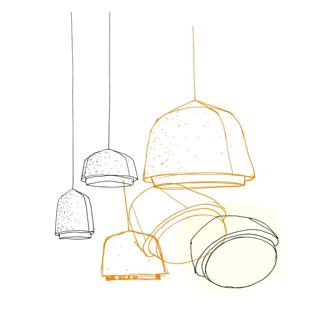 lámpara de techo de Arumi