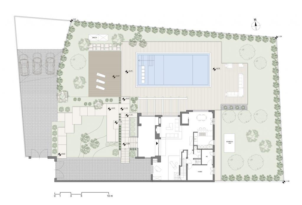 Casa no campo, fora de remodelação e ampliação plano