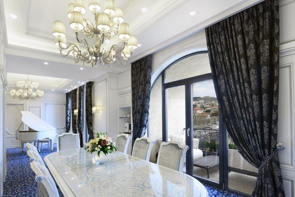 A sala de jantar da Suite Presidencial