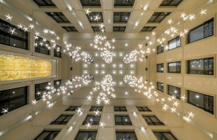 Una cascata di luci di Reflex