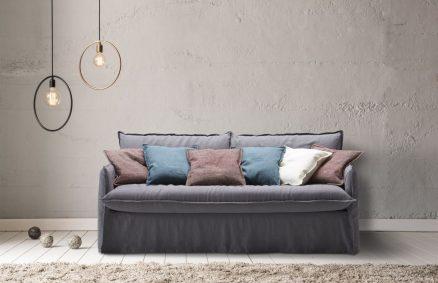 Canapé-lit chic, literie clarke milano