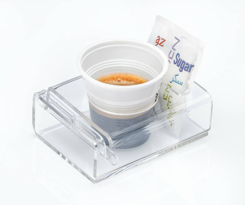 Plexi cup holder