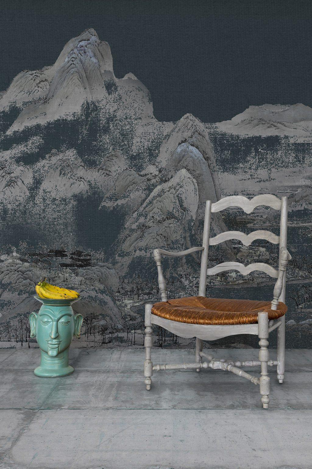 Vito Nesta, papel pintado de seda Via Delle