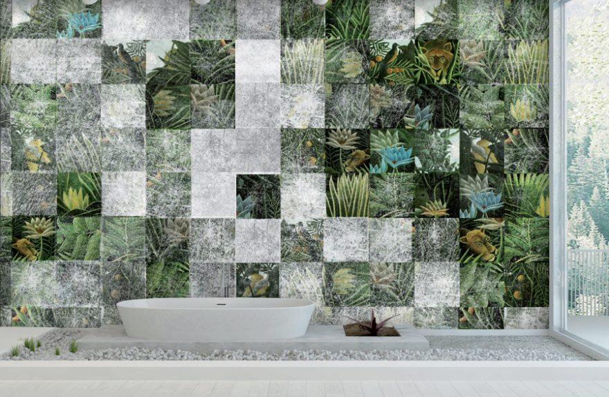 Carta Da Parati Bagno Texture : Cersaie 2017: skinwall decora con stile anche la sala da bagno