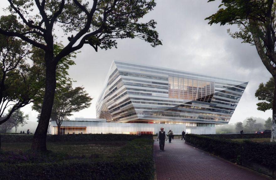 SHL Shanghai East Library Außenansicht
