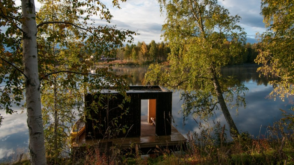 floating sauna small architecture workshop