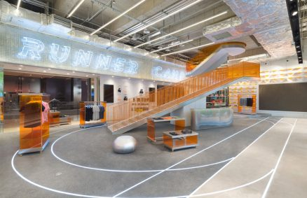 prisma diseño corredor campamento buque insignia concepto tienda