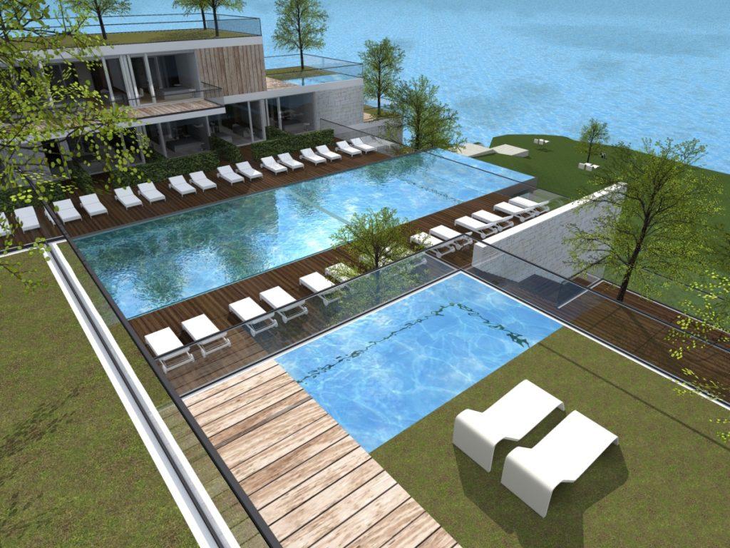 um resort que combina com a paisagem