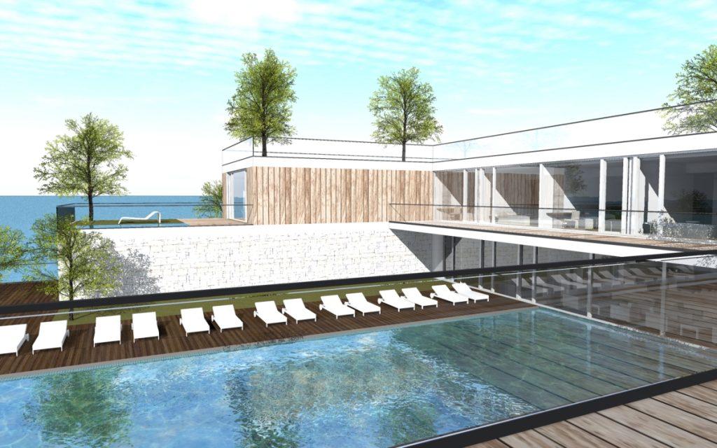 un resort che si fonde con il paesaggio