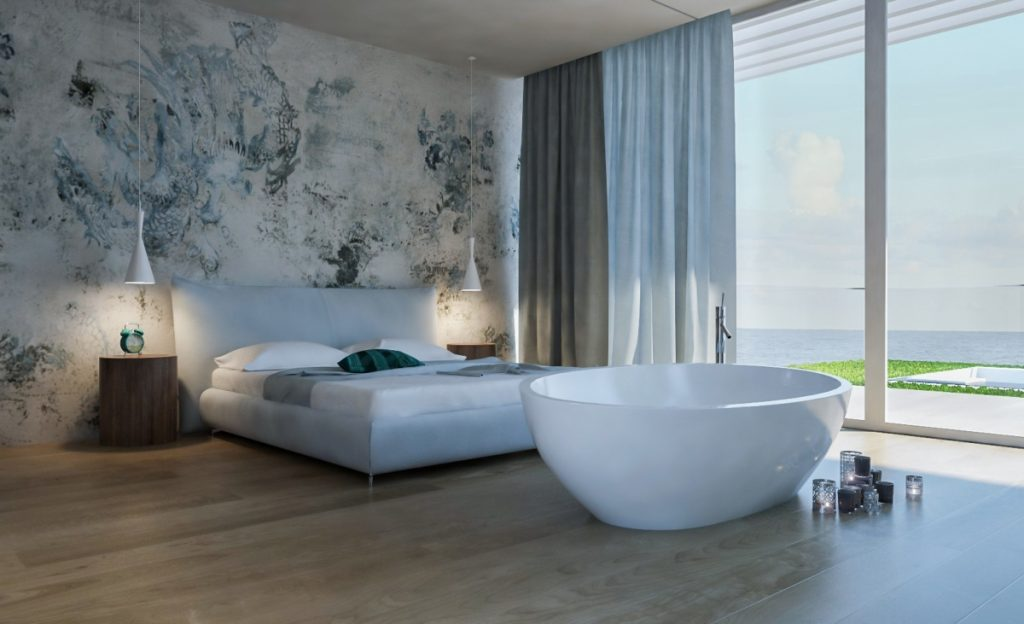 un resort che si fonde con il paesaggio, interni