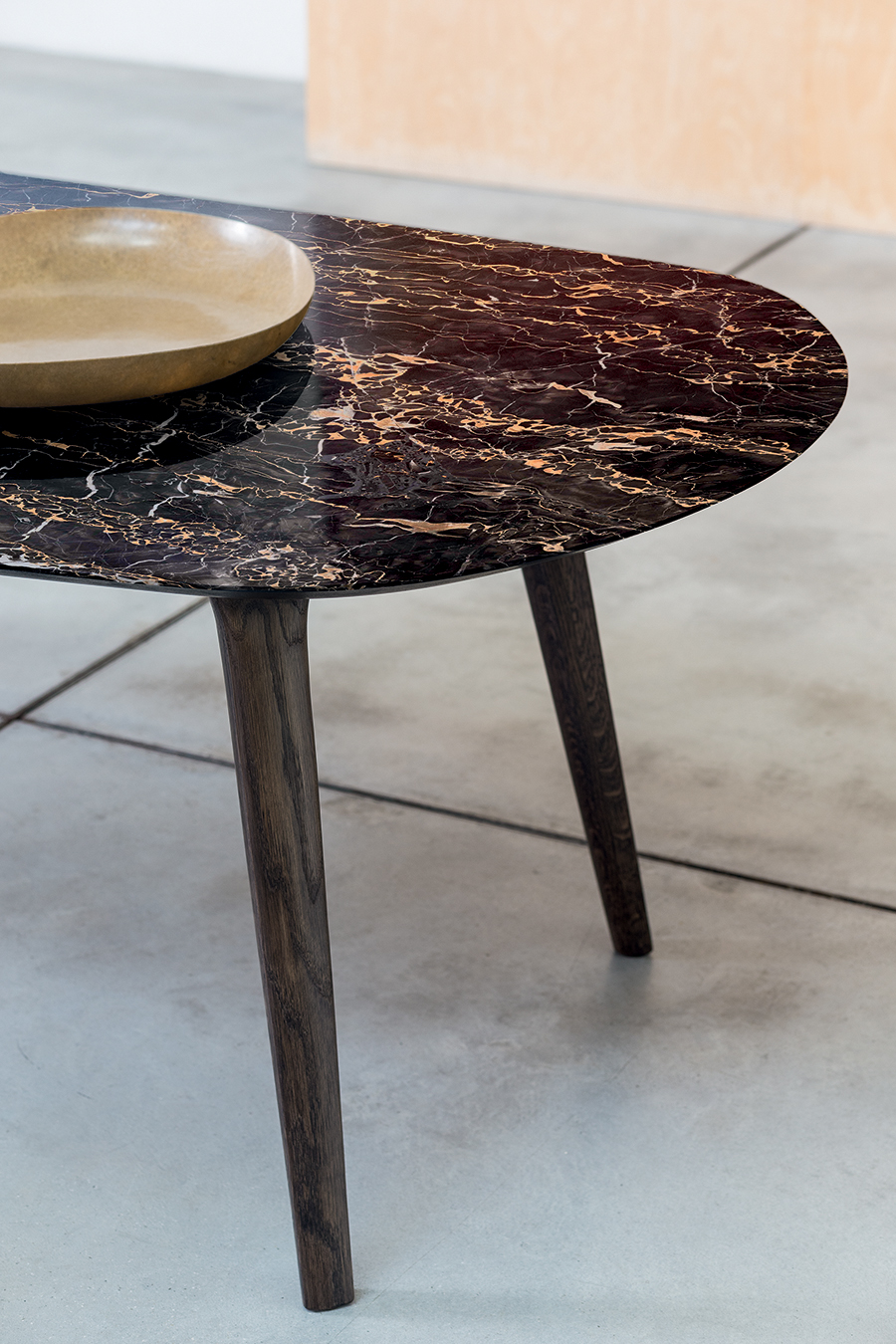 Ademar table top in Portoro marble