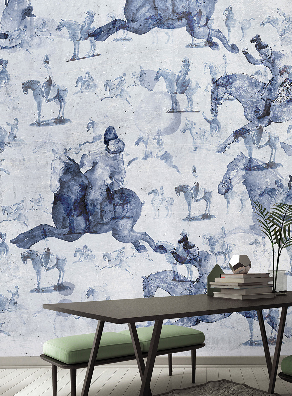 Wallpepper wallpaper Cavalos chineses