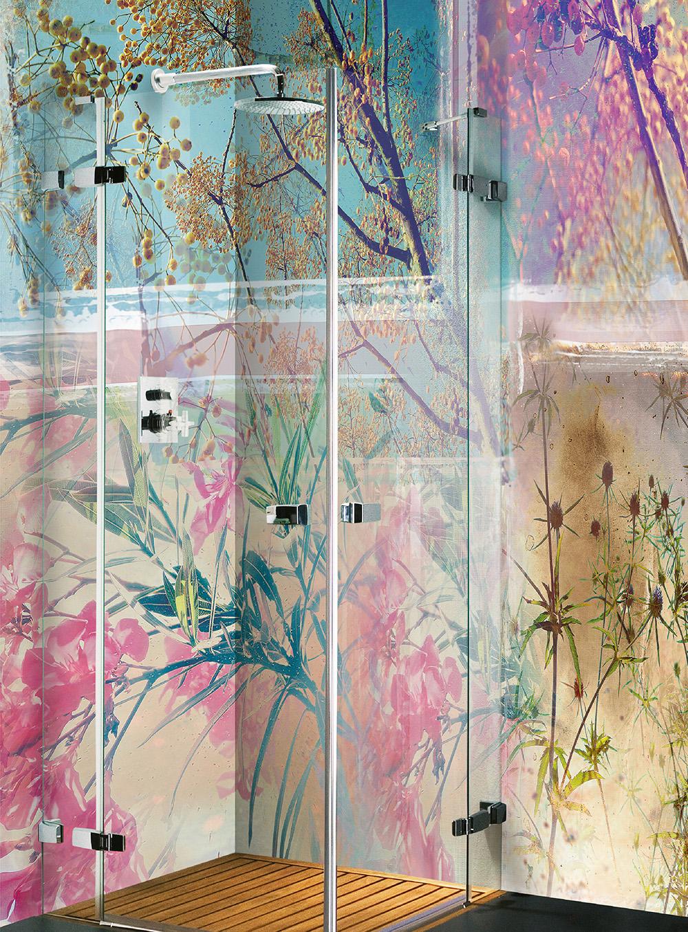 Papel pintado de Wallpepper Frondas de lápices de colores orientales
