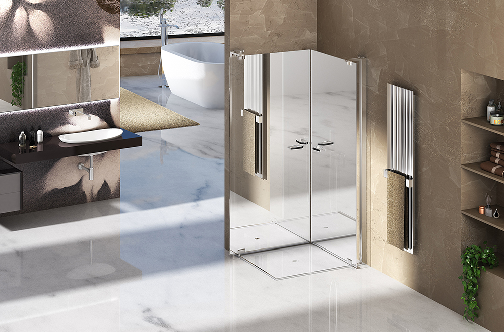 Duka mirror shower enclosure