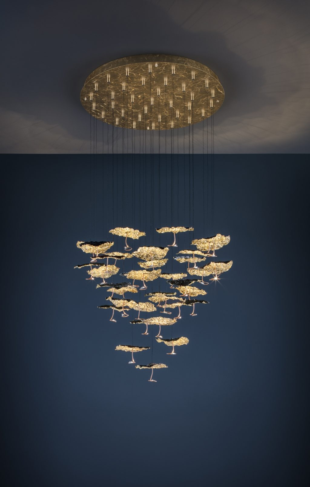 Gold Moon Chandelier