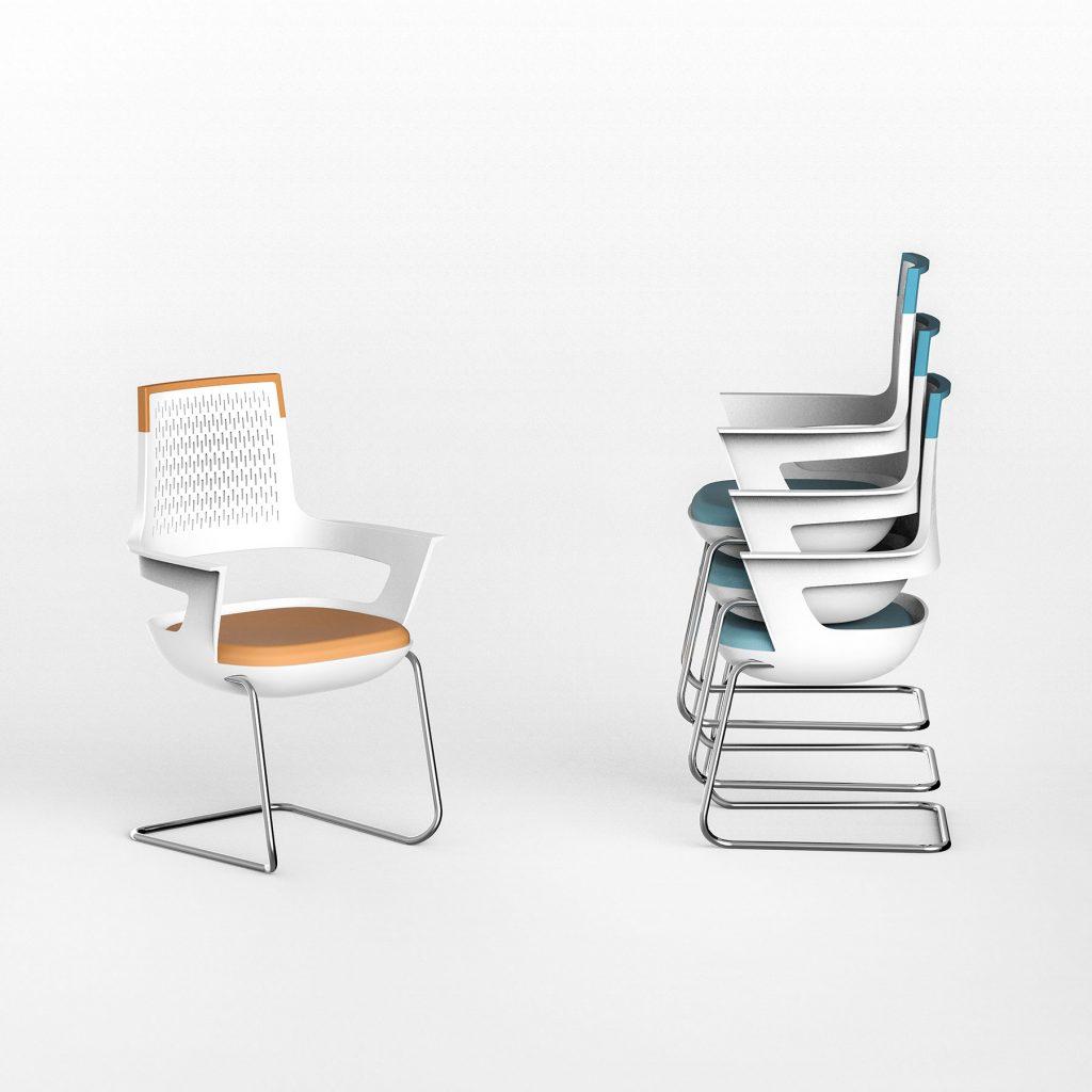 Μία καρέκλα γραφείου