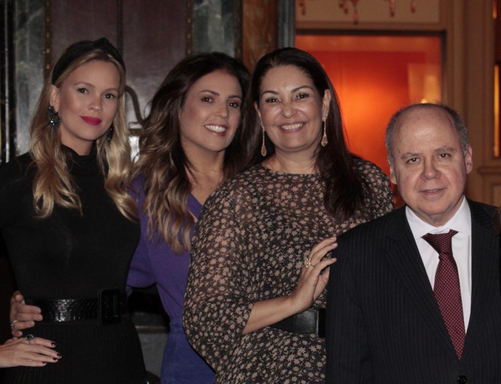 LORENA CAMPELLO + LIA PAIVA + LIGIA FRICK + EMBAIXADOR EDUARDO SANTOS