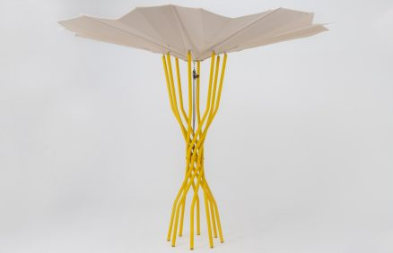 Photovoltaic umbrellas sustainable lido of the future Sammontana, design Carlo Ratti Associati