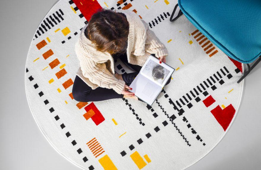 koleksi karpet reka bentuk levantin run 2021 Urban carpet