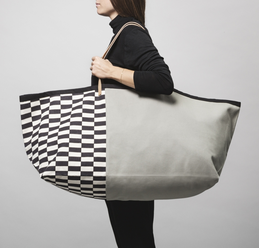 Herman Cotton shopping bag & Ferm Living leather handles